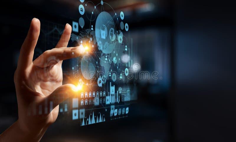 Crear tecnologías innovadoras Técnicas mixtas imágenes de archivo libres de regalías