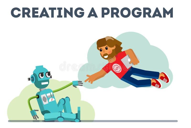 Crear un programa ilustración del vector