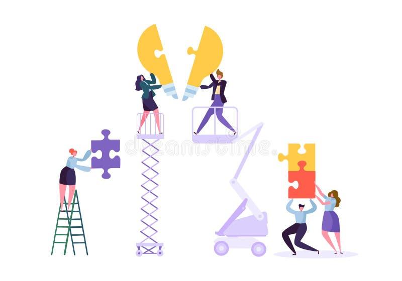 Creare concetto dell'innovazione di affari di lavoro di squadra di idea illustrazione di stock