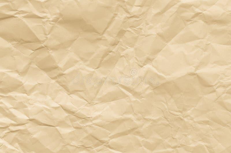 Creased предпосылка текстуры коричневой бумаги стоковые фотографии rf