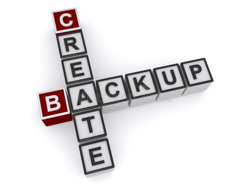 Create backup heading. Create backup crossword heading against white background royalty free illustration