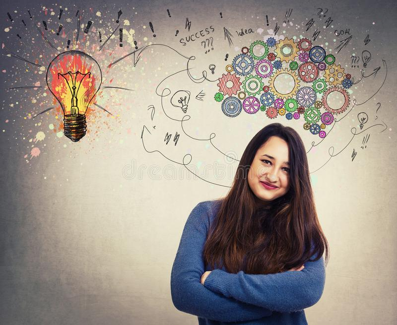 Create a genius royalty free stock image