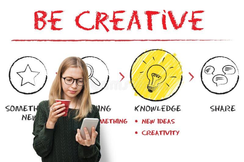 Create Imagination Innovation Inspiration Ideas Concept. People Thinking Imagination Innovation Inspiration Ideas stock photography