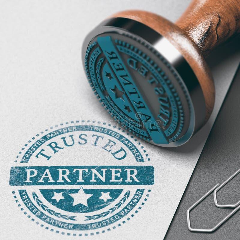 Create Strong Business Partnership, Building Trust stock illustration