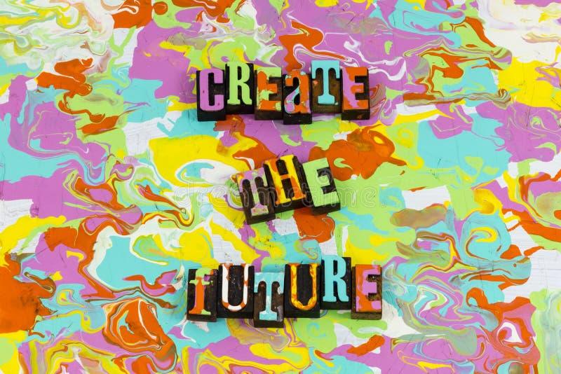 Create Zukunftsplanführung voraussagen lizenzfreie stockfotos
