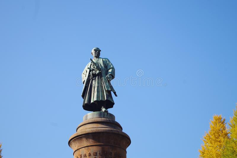 Statue of Omura Masujiro at Yasukuni Shrine royalty free stock photos