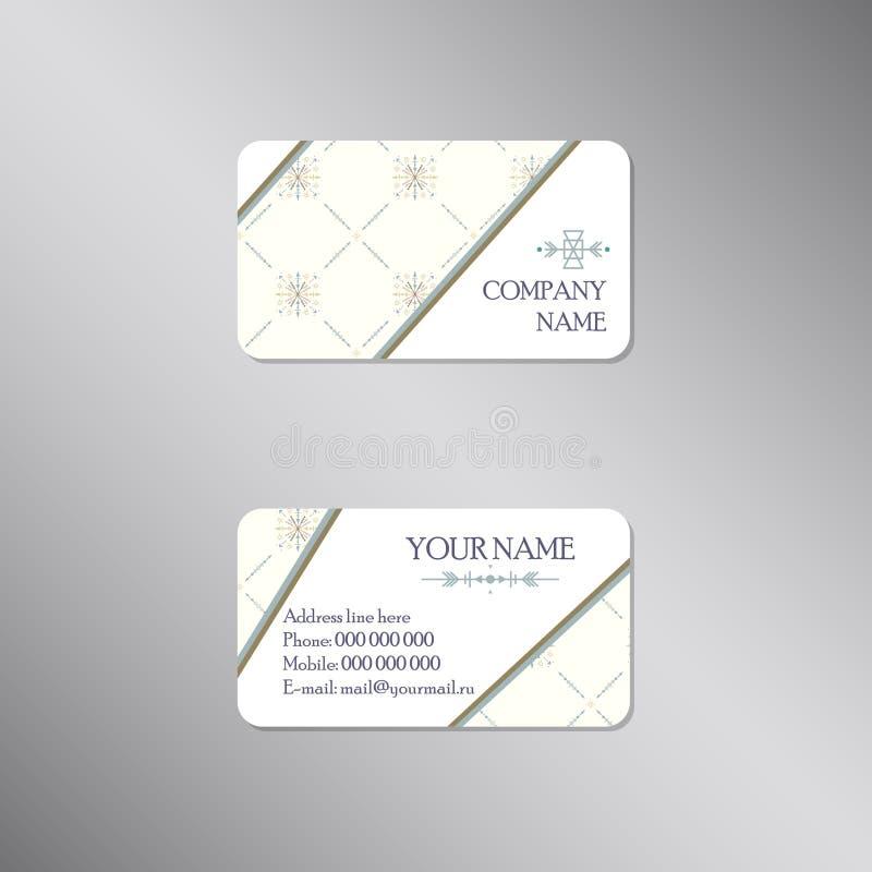 Creatief adreskaartje met licht manierornament stock illustratie