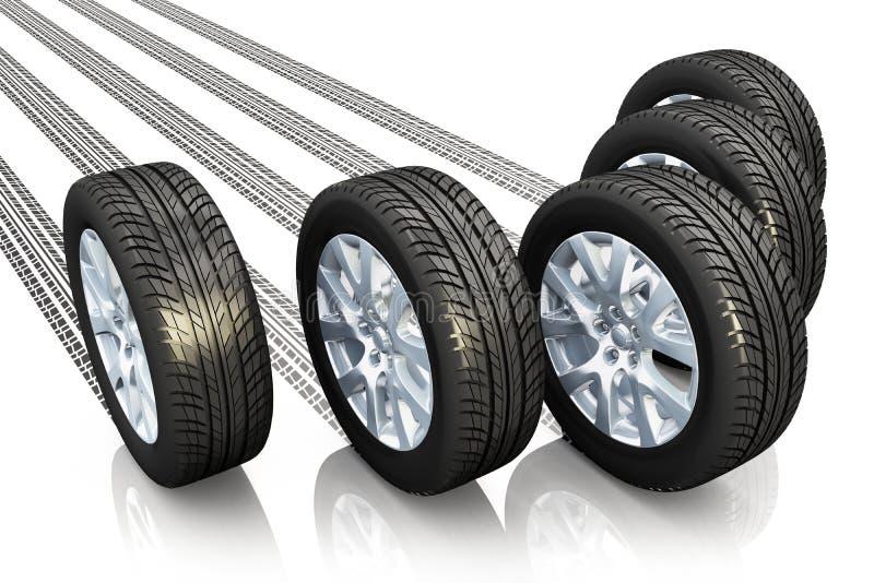 Automobiel concept royalty-vrije illustratie