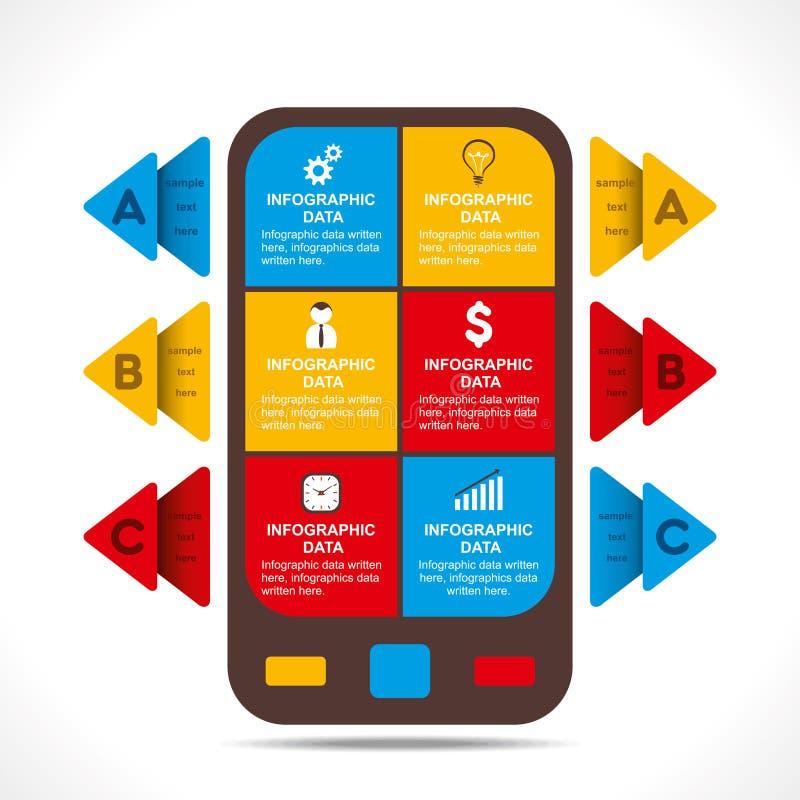 Creatief bedrijfs informatie-grafiek ontwerp royalty-vrije illustratie