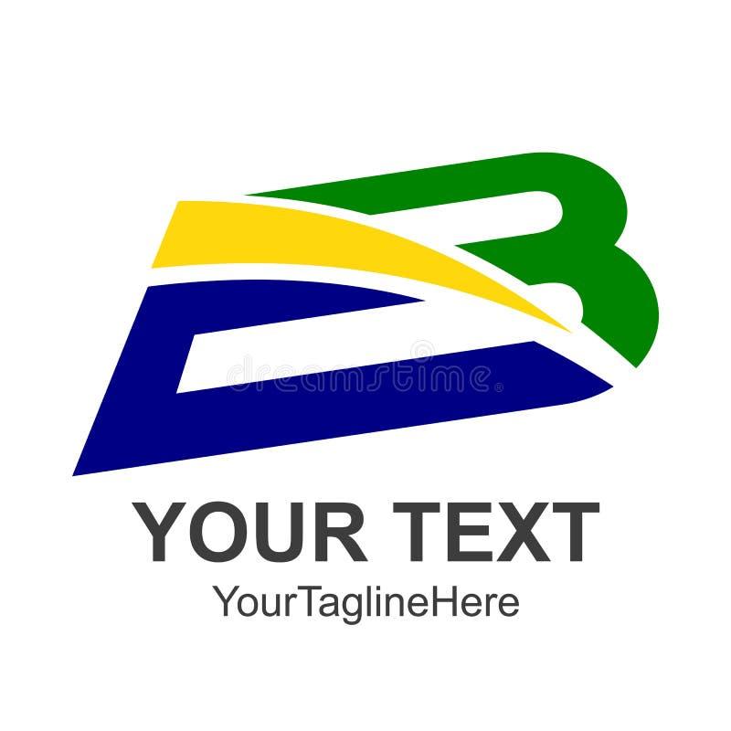Creatief brievenb embleem Het abstracte malplaatje van het bedrijfsembleemontwerp vector illustratie