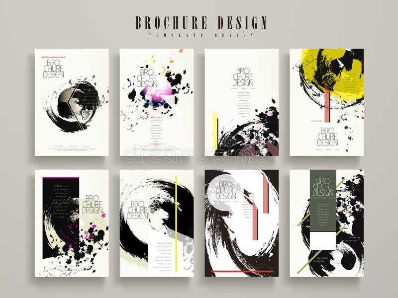 Creatief brochuremalplaatje vector illustratie