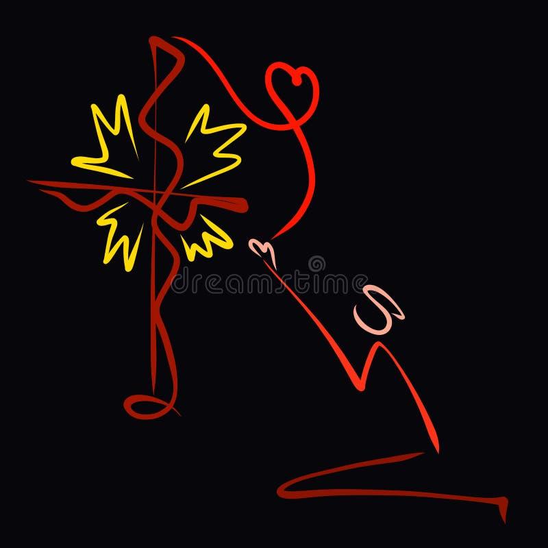 Creatief Christelijk patroon, biddende persoon, hart van glanzend kruis met vissen royalty-vrije illustratie