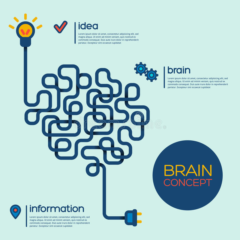 Creatief concept de menselijke hersenen stock illustratie