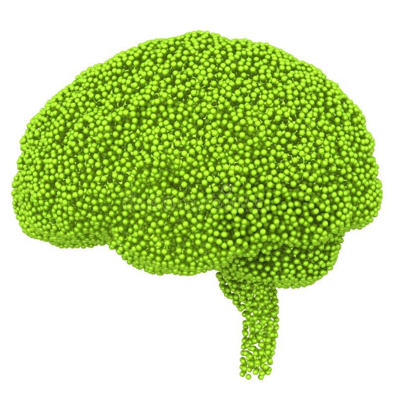Creatief concept de menselijke hersenen 3d geef terug stock illustratie