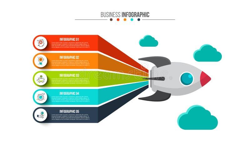 Creatief concept voor infographic stock illustratie