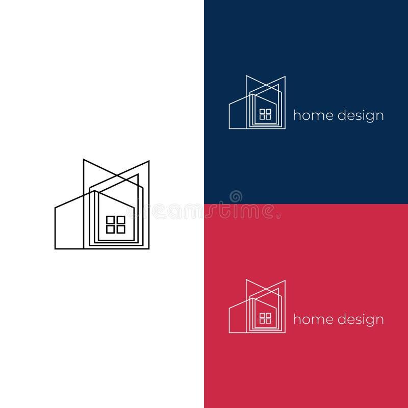 Creatief de decoratieembleem van het huisontwerp Goed voor architect het brandmerken of het huisvesten agentschap vector illustratie