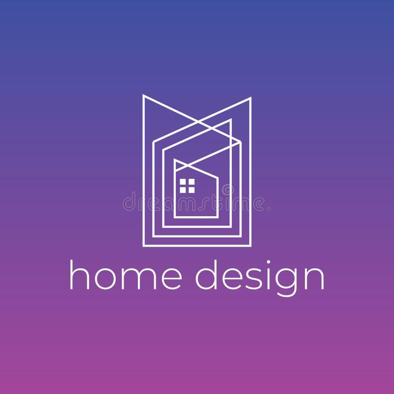 Creatief de decoratieembleem van het huisontwerp Goed voor architect het brandmerken of het huisvesten agentschap royalty-vrije illustratie