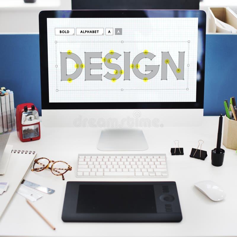 Creatief de Ideeënconcept van het ontwerpontwerp royalty-vrije stock afbeeldingen