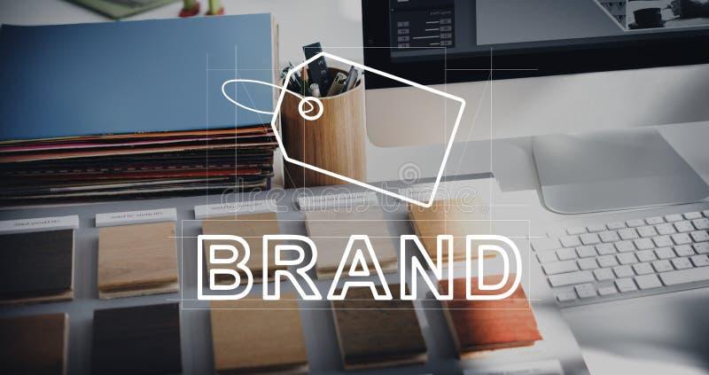 Creatief de Identiteit van het Ontwerpmerk Marketing Concept stock afbeelding