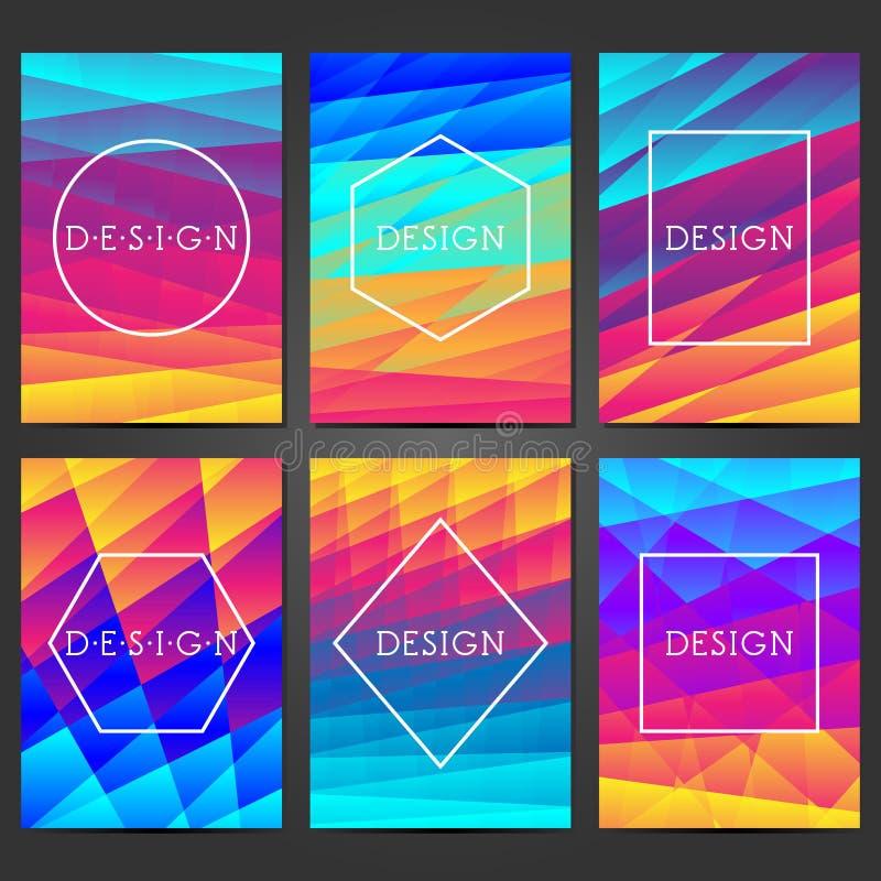 Creatief dekkingsontwerp Abstracte moderne achtergronden Kleurrijke gradi?nten Lay-out voor banners, affiches, vliegers, uitnodig vector illustratie