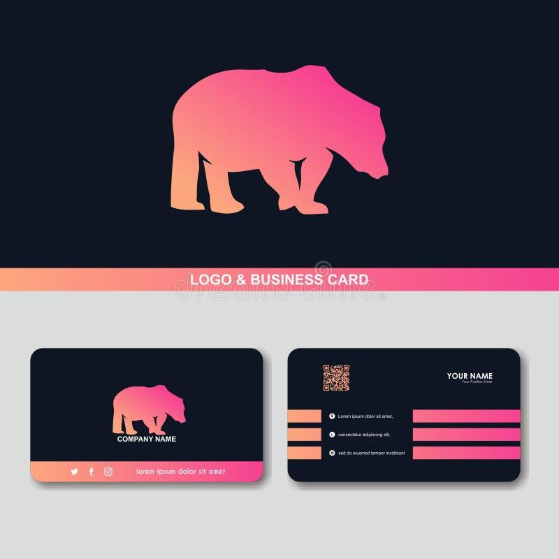Creatief draag van het het ontwerpconcept van het embleemadreskaartje het vectormalplaatje royalty-vrije illustratie