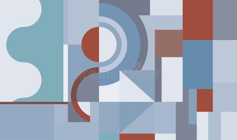 Creatief geometrisch ontwerp stock illustratie