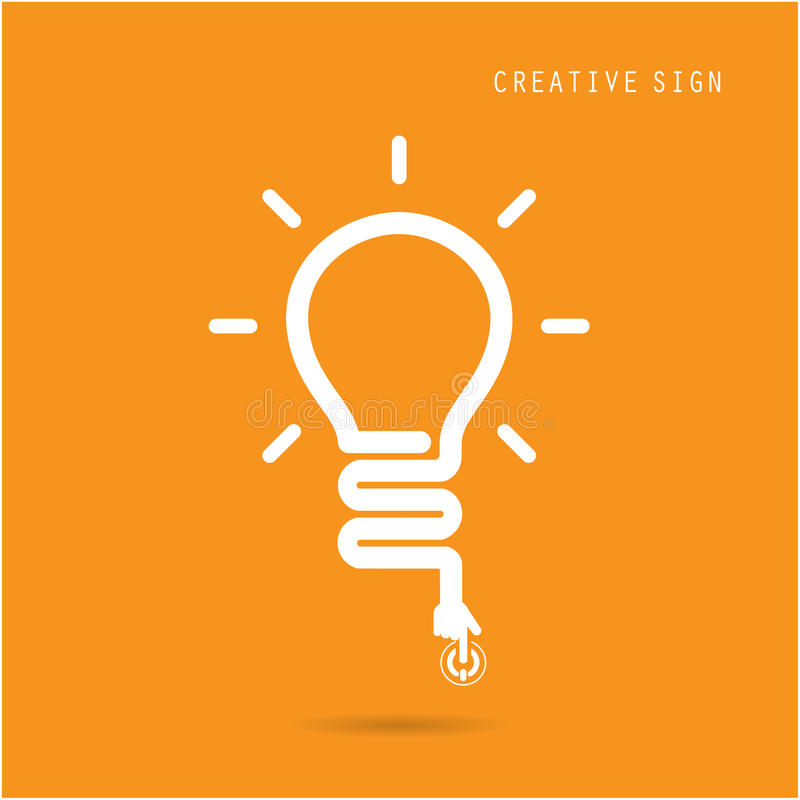 Creatief gloeilampenconcept, ontwerp voor de dekking van de affichevlieger broch vector illustratie