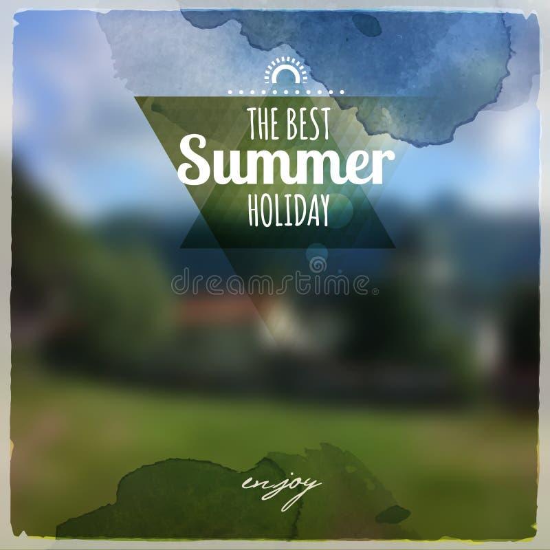 Creatief grafisch bericht voor uw de zomerontwerp vector illustratie