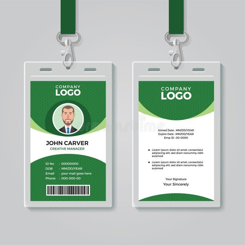 Creatief Groen Collectief Identiteitskaartmalplaatje royalty-vrije illustratie