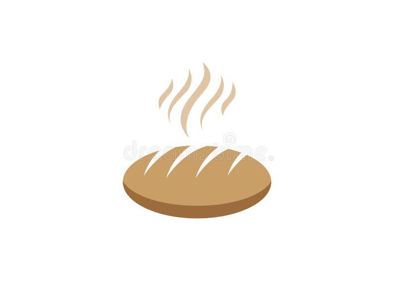 Creatief heet Brood voor de illustratie van het embleemontwerp stock illustratie