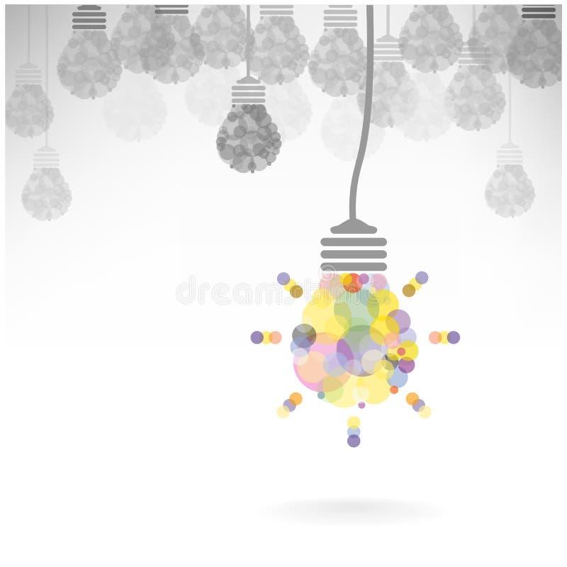 Creatief het concepten van het gloeilampenidee ontwerp als achtergrond stock illustratie