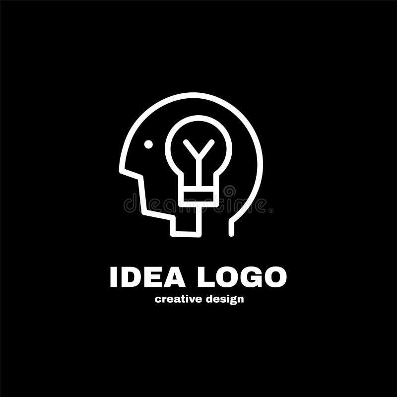 Creatief het malplaatjeontwerp van het ideeembleem Vector vector illustratie