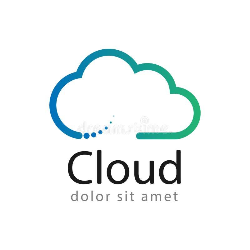 Creatief het ontwerpmalplaatje van het wolkenembleem stock fotografie
