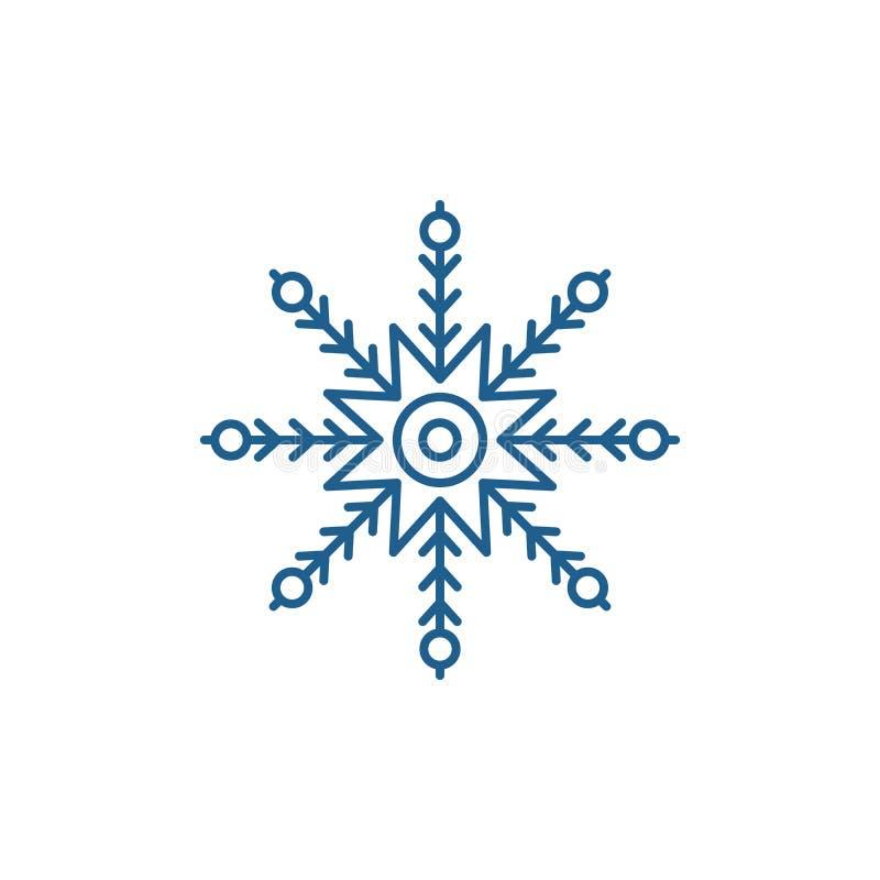 Creatief het pictogramconcept van de sneeuwvloklijn Creatief sneeuwvlok vlak vectorsymbool, teken, overzichtsillustratie vector illustratie