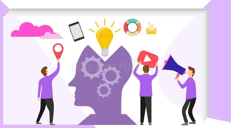 Creatief idee Digitale informatieoverbelasting Kennis Idee creatief concept royalty-vrije illustratie