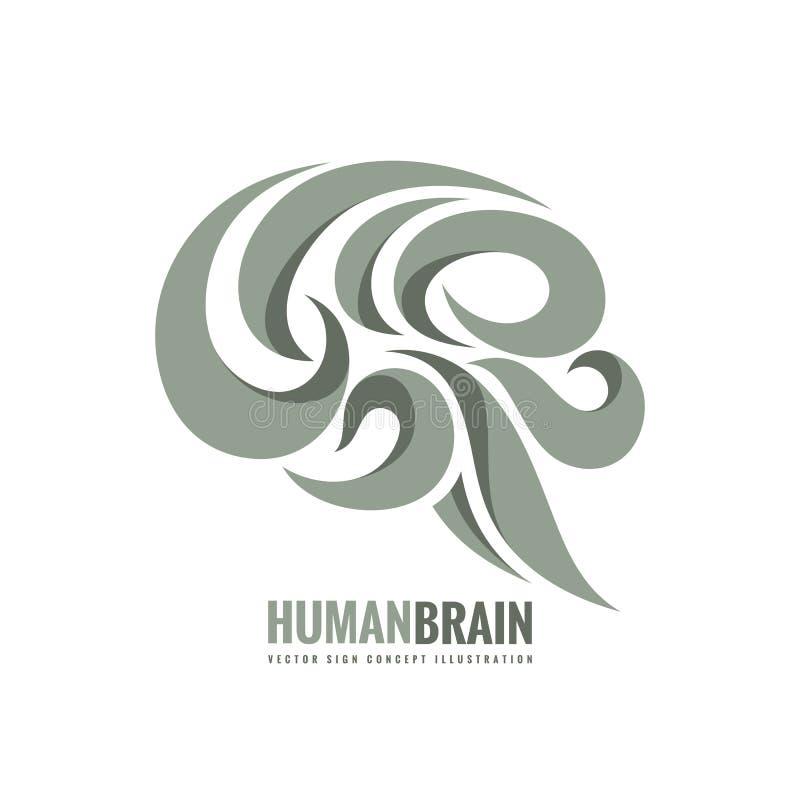 Creatief idee - het conceptenillustratie van het bedrijfs vectorembleemmalplaatje Abstract menselijk hersenenteken Flexibel vlot  stock illustratie
