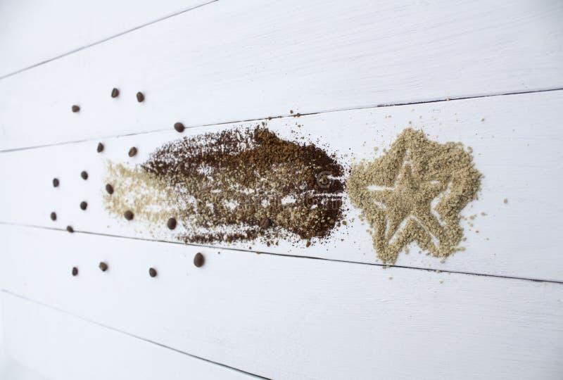 Creatief idee, Koffiester, Komeet stock fotografie