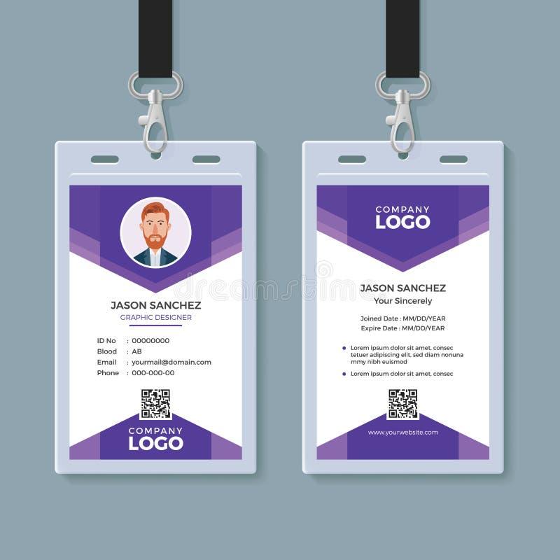 Creatief Identiteitskaartmalplaatje royalty-vrije illustratie