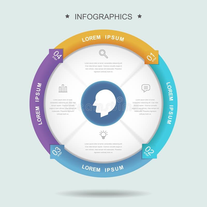 Creatief Infographic-Malplaatje stock illustratie
