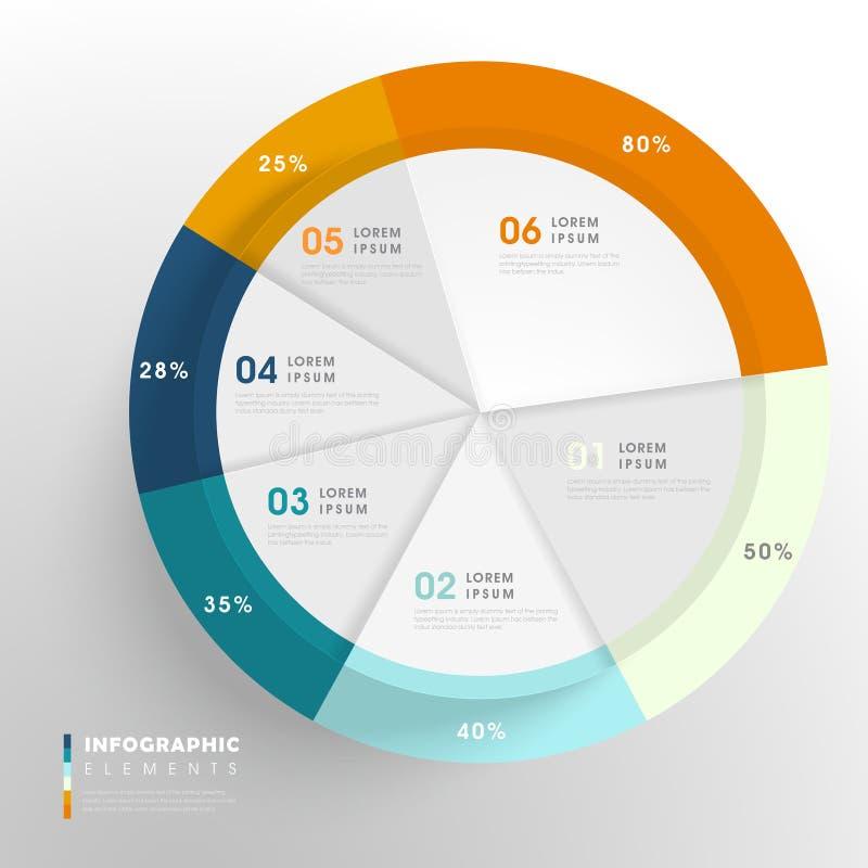 Creatief Infographic-Malplaatje vector illustratie