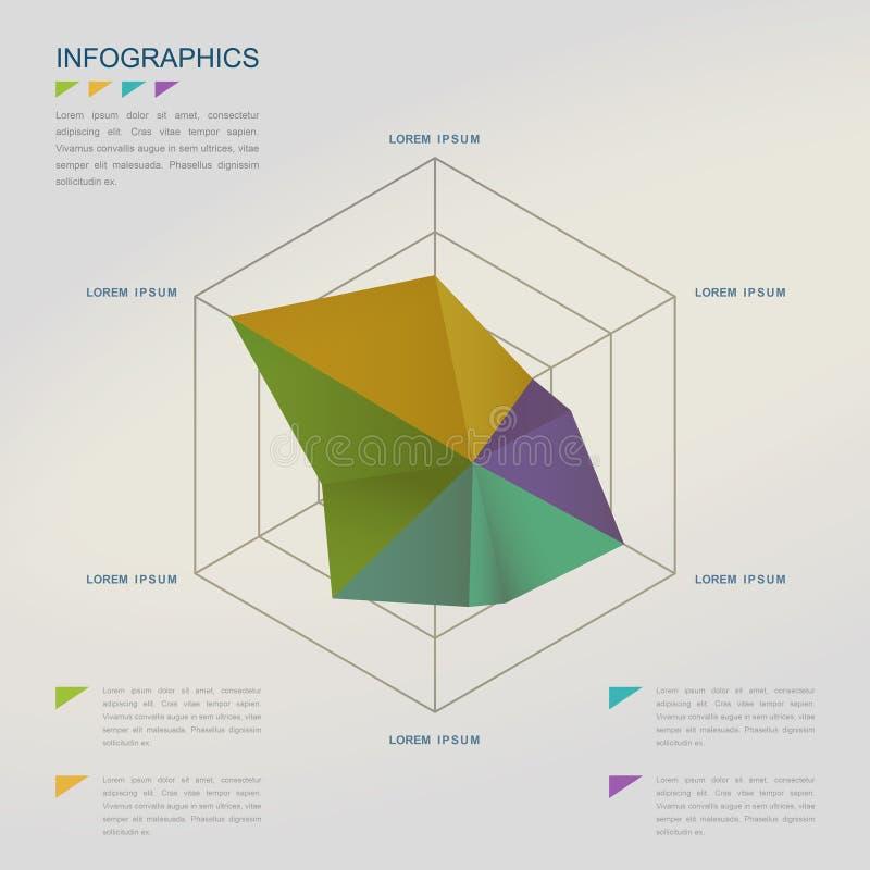 Creatief Infographic-Malplaatje royalty-vrije illustratie