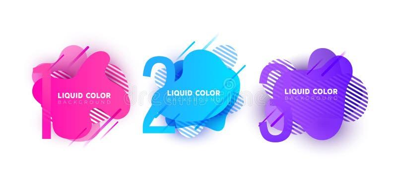 Creatief infographic malplaatje met kleurrijke ronde elementen, wijzers en tekstgebieden royalty-vrije illustratie