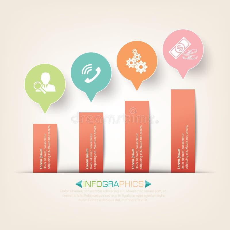 Creatief Infographics-Malplaatjeontwerp royalty-vrije illustratie