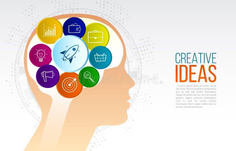 Creatief inspiratie origineel idee stock illustratie