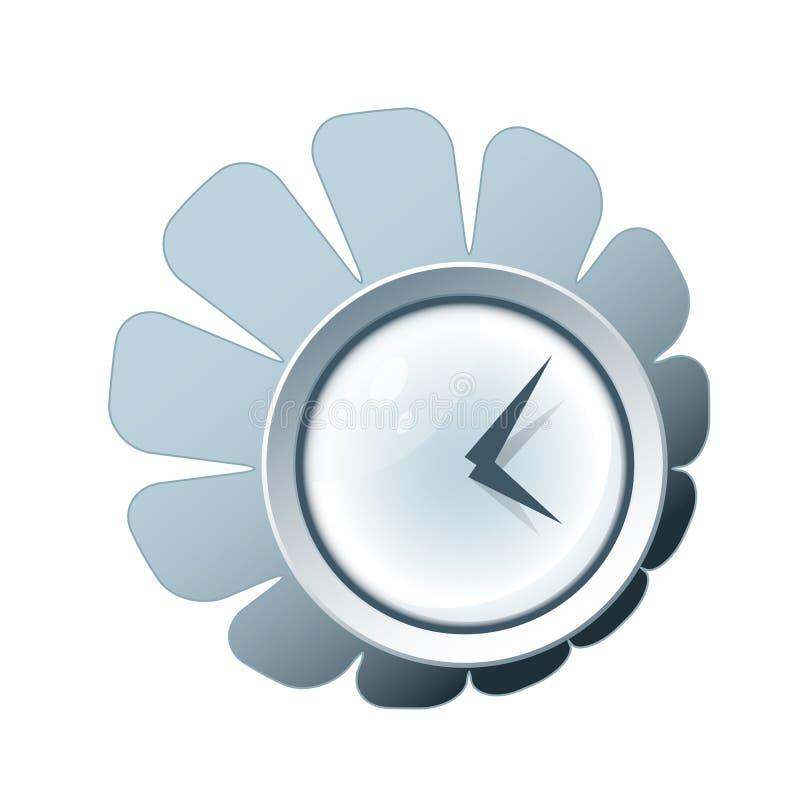 Creatief klokpictogram stock illustratie