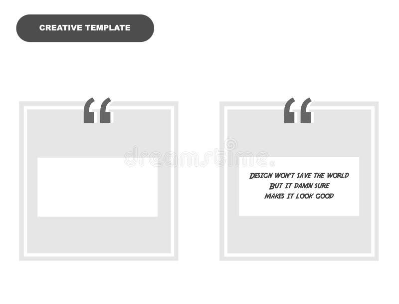 Creatief malplaatjeontwerp voor typografie en het texting royalty-vrije stock fotografie