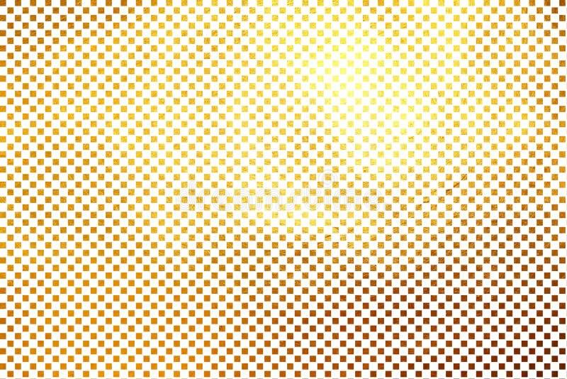 Creatief modern digitaal luxueus shinning geruit vierkant/van het de textuurpatroon van het kubusnet de gouden abstracte achtergr royalty-vrije illustratie