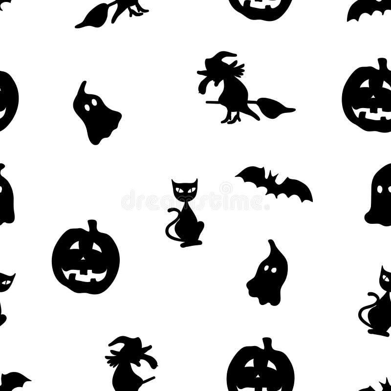 Creatief naadloos patroon Het concept van Halloween vector illustratie