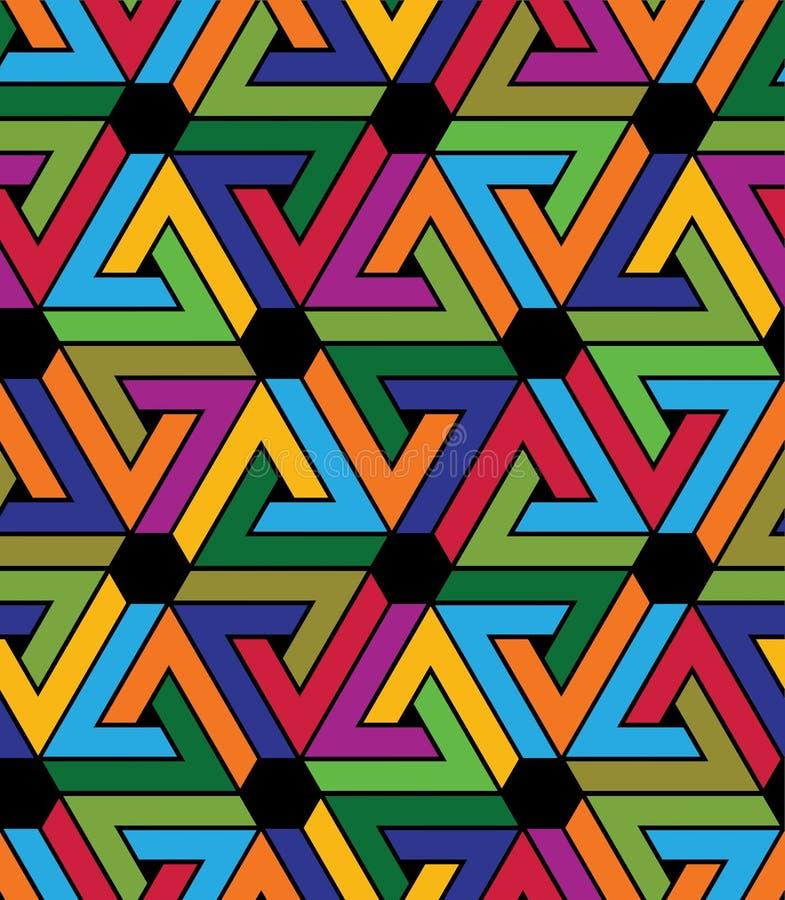 Creatief ononderbroken multicolored patroon, rijke motief abstracte bedelaars vector illustratie