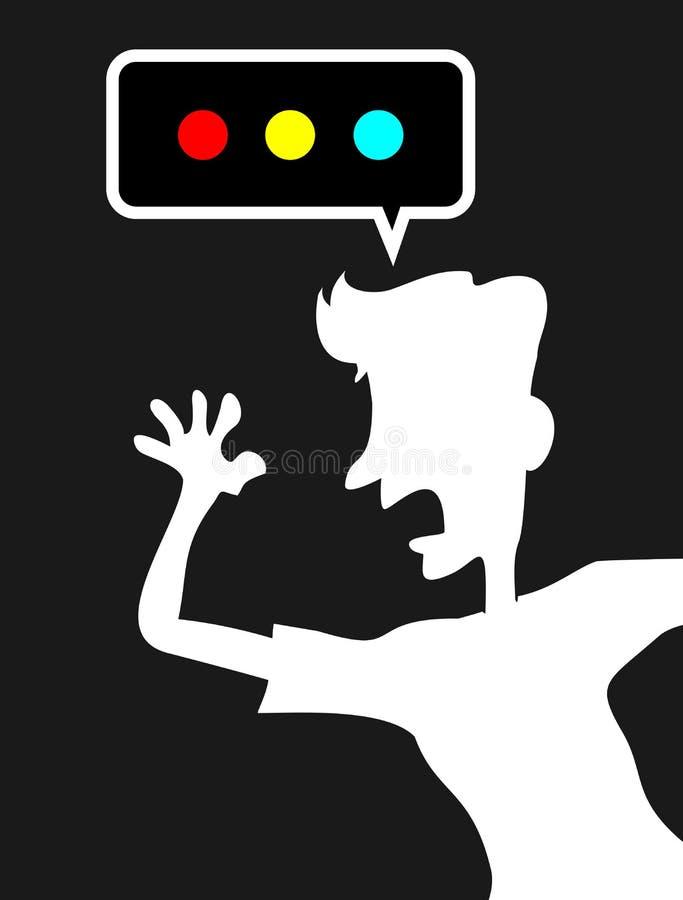Gillende mens vector illustratie